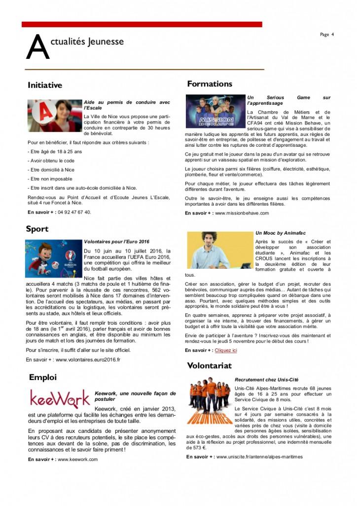 Newsletter Octobre 20154