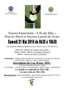 Affiche Tournoi Futsal mixte
